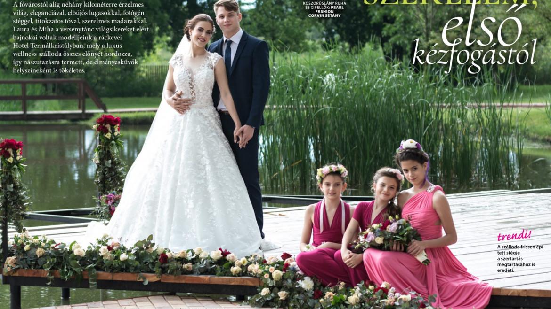 Címlap fotózás az Esküvő trend magazinban, 2019. Hotel Termálkristály, Ráckeve
