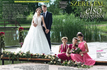 Front page photo session in 'Esküvő trend' magazin, Hotel Termálkristály, Ráckeve 2019
